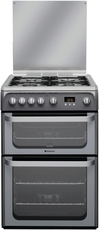 Hotpoint 60cm Double Oven Gas Cooker - HUG61G