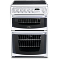 Hotpoint 60cm Twin Cavity Electric Cooker - CH60EKWS (Kendal)