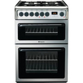 Hotpoint 60cm Double Oven Gas Cooker - HAG60X