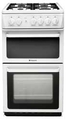 Hotpoint 50cm Twin Cavity Gas Cooker - HAG51P
