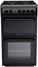 Hotpoint 50cm Twin Cavity Gas Cooker - HAG51K