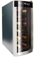 Husky 12 Bottle Mirrored Glass Wine Cooler - HN6