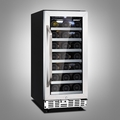 Husky ZY2 31 Bottle Single Zone Wine Cooler - HUS-ZY2-S-SS-31