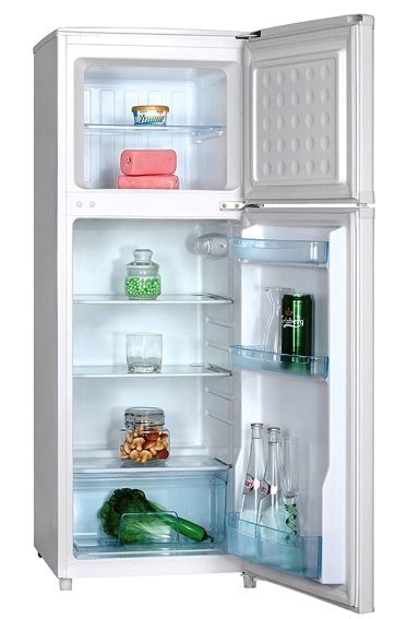 iceking 48cm slimline fridge freezer ff137ap2