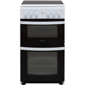 Indesit 50cm Twin Cavity Electric Cooker - ID5V92KMW
