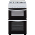 Indesit 50cm Twin Cavity Gas Cooker - ID5G00KMWL