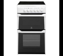 Indesit 50cm Twin Cavity Electric Cooker - IT50CWS
