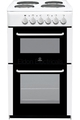 Indesit 50cm Twin Cavity Electric Cooker - RIT50EW