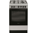 Indesit 50cm Single Cavity Gas Cooker - IS5G1PMSS