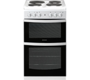 Indesit 50cm Twin Cavity Electric Cooker - ID5E92KMW