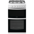 Indesit 50cm Twin Cavity Gas Cooker - ID5G00KMW