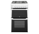 Indesit 50cm Twin Cavity Gas Cooker - IT50G(W)
