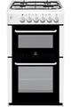 Indesit 50cm Twin Cavity Gas Cooker - RIT50GW