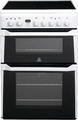 Indesit 60cm Double Oven Electric Cooker - ID60C2WS