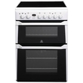Indesit 60cm Double Oven Electric Cooker - ID60C2W