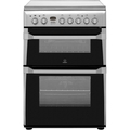 Indesit 60cm Double Oven Electric Cooker - ID60C2X
