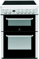 Indesit 60cm Double Oven Electric Cooker - RID60C2W