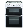 Indesit 60cm Double Oven Gas Cooker - ID60G1W