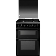 Indesit 60cm Double Oven Gas Cooker - ID60G2K