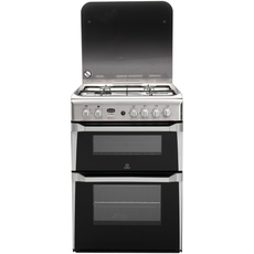 Indesit 60cm Double Oven Gas Cooker - ID60G2X