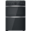 Indesit 60cm Double Oven Gas Cooker - ID67G0MCBUK