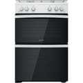 Indesit 60cm Double Oven Gas Cooker - ID67G0MCWUK