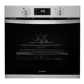 Indesit 60cm Multifunction Pyrolytic Single Oven - IFW3841PIX