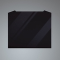 Luxair 100cm Curved Splashback - SPLASH-100-CVD-BLK