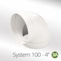 Luxair 100mm 90° Round Elbow - 100-BEND-ROUND
