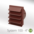 Luxair 100mm Louvred Wall Vents - 100-GRILLE-ROUND-RED-BRICK
