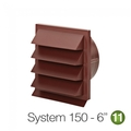 Luxair 150mm Louvred Wall Vents - 150-GRILLE-ROUND-RED-BRICK