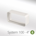 Luxair 100mm Rectangular Flat Pipe Connector - 100-CONNECTOR-RECTANGULAR