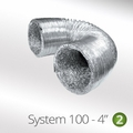 Luxair 100mm Round Aluminium Flexi Hose - 100-1.5M-PIPE-FLEXIBLE