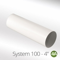 Luxair 100mm Round Ducting Pipe 1m - 100-1M-PIPE-ROUND