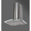 Luxair 110cm Glass Chimney Hood - LA-110-CVD-GL-SS