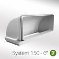 Luxair 150mm 90° Vertical Elbow - 150-BEND-RECT-VERTICAL