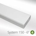 Luxair 150mm Flat Ducting Pipe 1m - 150-1M-PIPE-RECTANGULAR