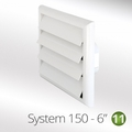 Luxair 150mm Louvred Wall Vents - 150-GRILLE-ROUND-WHITE