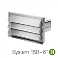 Luxair 150mm Rectangular Stainless Steel Outside Grill Vent - 150-GRILLE-RECTANGULAR-SS