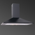 Luxair 60cm Chimney Hood - LA-60-STD-BLK