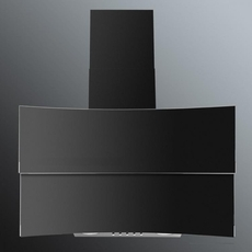Luxair 60cm Glass Angled Chimney Hood - LA-60-HUBBLE-BLK
