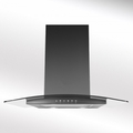 Luxair 60cm Glass Chimney Hood - LA-60-ARTIS-CVD-BLK