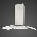 Luxair 60cm Glass Chimney Hood - LA-60-CVD-SS-VAL