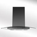 Luxair 70cm Glass Chimney Hood - LA-70-ARTIS-CVD-BLK