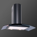 Luxair 70cm Glass Chimney Hood - LA-70-CVD-BLK
