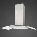 Luxair 70cm Glass Chimney Hood - LA-70-CVD-VAL-SS