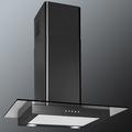 Luxair 70cm Straight Glass Hood - LA-70-ST-GL-BLK