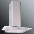 Luxair 70cm Straight Glass Hood - LA-70-ST-GL-SS