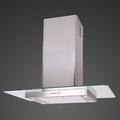 Luxair 70cm Straight Glass Island Hood - LA-70-ST-GL-ISL-SS