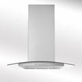 Luxair 80cm Glass Chimney Hood - LA-80-ARTIS-CVD-BLK